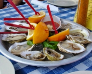 photo fresh seafood, one of the most delicious of the Cape Cod attractions are oysters on the half shell