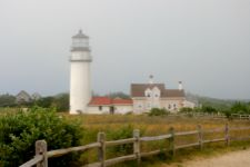 Image of Highland Light one of the many Cape Cod attractions in North Truro, it is the oldest active lighthouse on Cape Cod