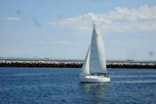 photo Watching Sailboats in the Harbors on Cape Cod during Truro and Provincetown camping trips