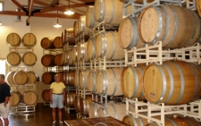 photo of the wine barrels storing wines at North Truro's Truro Vineyards on Cape Cod