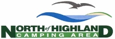Logo of North of Highland Camping Area with campgrounds on Cape Cod near the tip of the Cape
