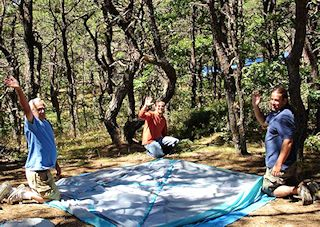 photo of setting up Cape Cod campsites at North of Highland Camping on Cape Cod, MA